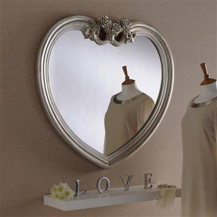 Popular Photo of Heart Shaped Mirrors For Wall
