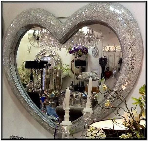 Heart Shaped Mirrors Centerpieces | Home Design Ideas Regarding Large Heart Mirrors (View 8 of 15)