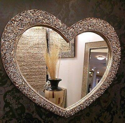 Popular Photo of Heart Shaped Mirrors For Walls