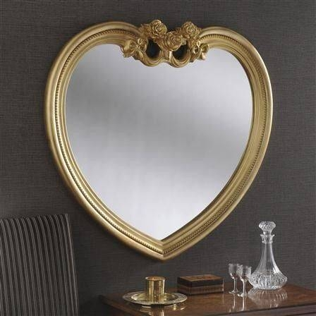 Heart Shaped Mirrors Regarding Gold Heart Mirrors (#19 of 30)