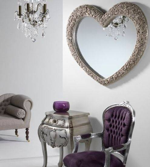 Heart Shaped Mirrors Within Heart Shaped Mirrors For Walls (View 6 of 30)