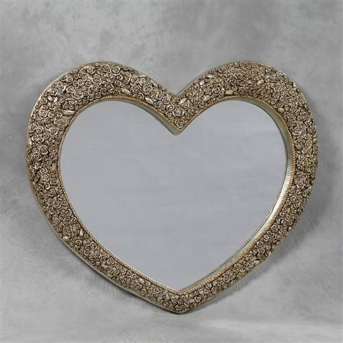 Heart Shaped Wall Mirror | Inovodecor With Regard To Gold Heart Mirrors (#20 of 30)