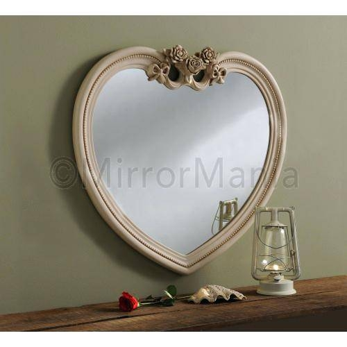 Heart Shaped Wall Mirror – Shopwiz In Venetian Heart Mirrors (#17 of 20)