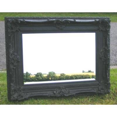 Heavily Ornate 4Ft X 3Ft Black Rococo Mirror  Ayers & Graces Inside Black Rococo Mirrors (#18 of 30)