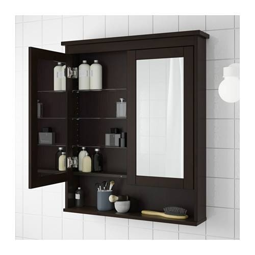Hemnes Mirror Cabinet With 2 Doors – Black Brown Stain, 32 5/8X6 1 Pertaining To Black Cabinet Mirrors (#25 of 30)