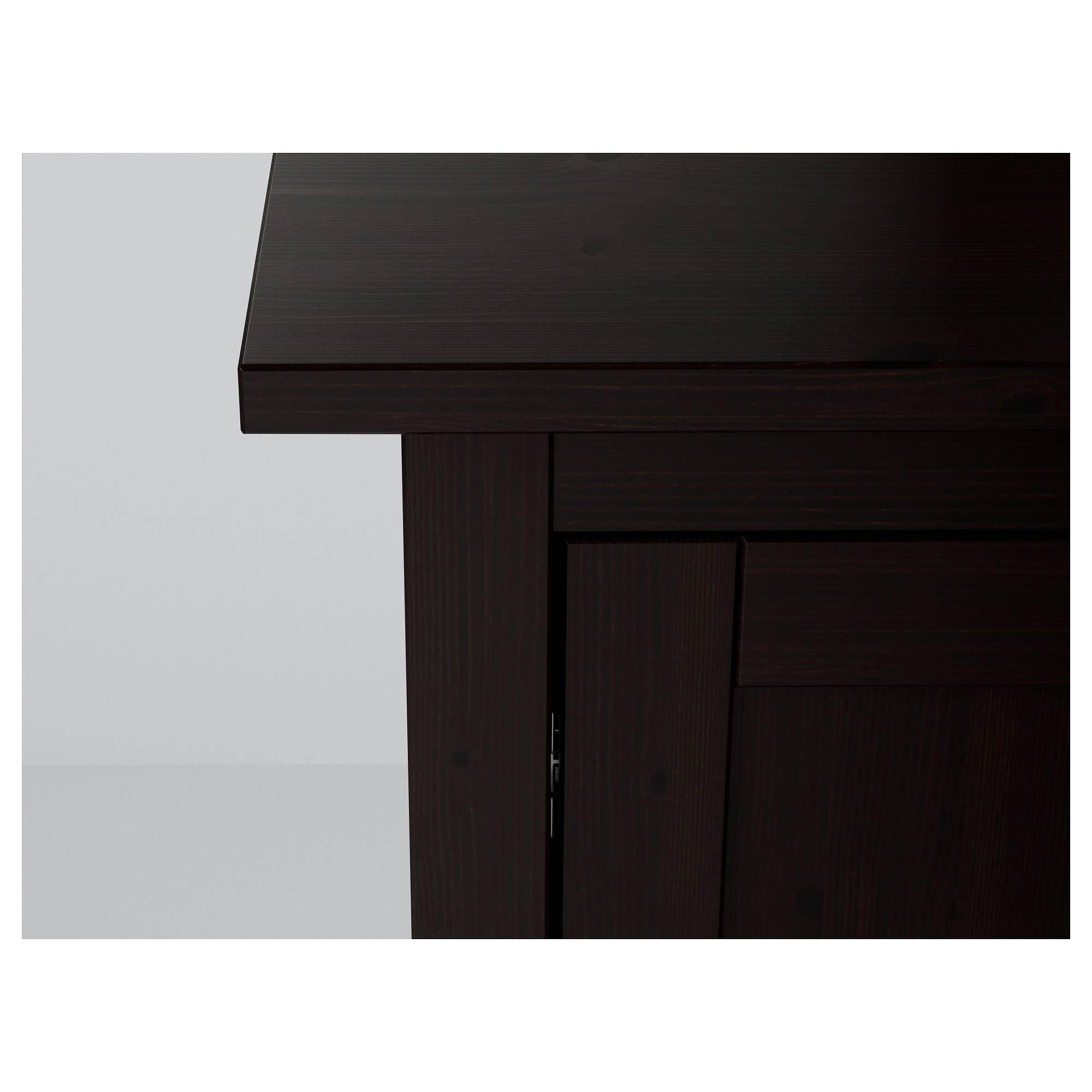 Hemnes Sideboard Black Brown 157X88 Cm – Ikea Regarding Black Sideboard (View 3 of 20)