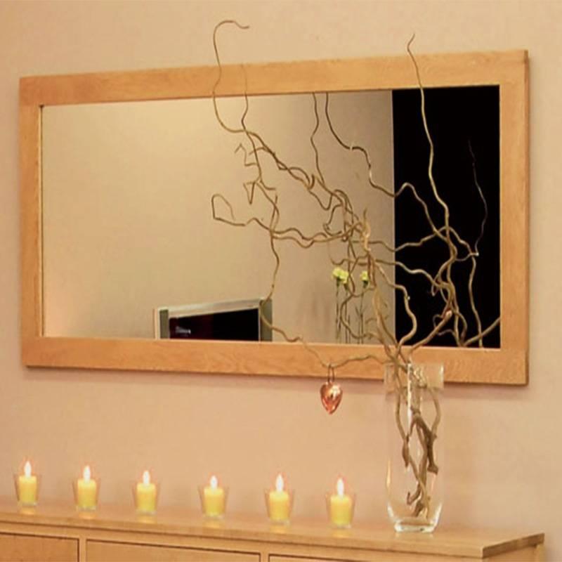 Hereford Oak Large Rectangular Wall Mirror | Duck Barn Interiors Intended For Large Oak Framed Mirrors (#10 of 20)