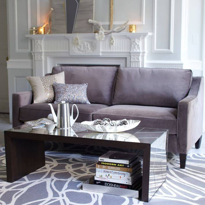Herringbone Mirror Coffee Table | West Elm Throughout Occasional Tables Mirrors (#25 of 30)