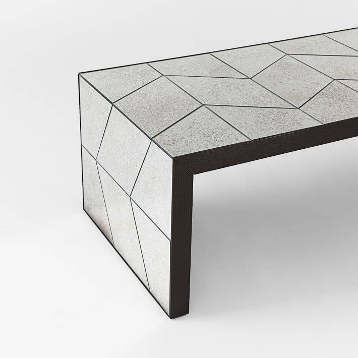 Herringbone Mirror Coffee Table | West Elm With Occasional Tables Mirrors (#26 of 30)