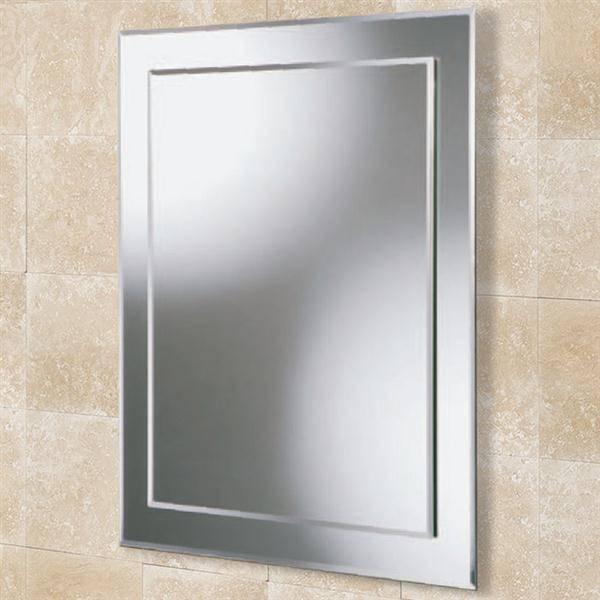 Hib Linus Rectangular Bevelled Edge Bathroom Mirror W500 X H700Mm For Bevelled Edge Bathroom Mirrors (#9 of 20)