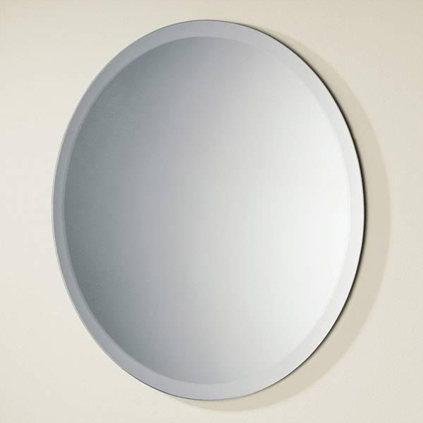 Hib Rondo Circular Bevelled Edge Bathroom Mirror 500Mm Dia Inside Bevelled Edge Bathroom Mirrors (#11 of 20)