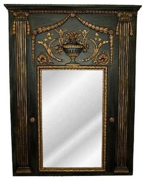 Hickory Manor Hm6515Obg Fontaine Trumeau Old Black Gold Decorative Within Victorian Style Mirrors (View 21 of 30)