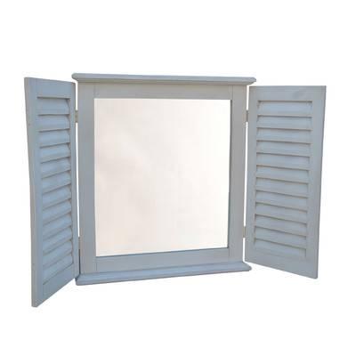 Hickory Manor House Coastal Shutter Mirror & Reviews | Wayfair With Regard To Window Shutter Mirrors (#21 of 30)