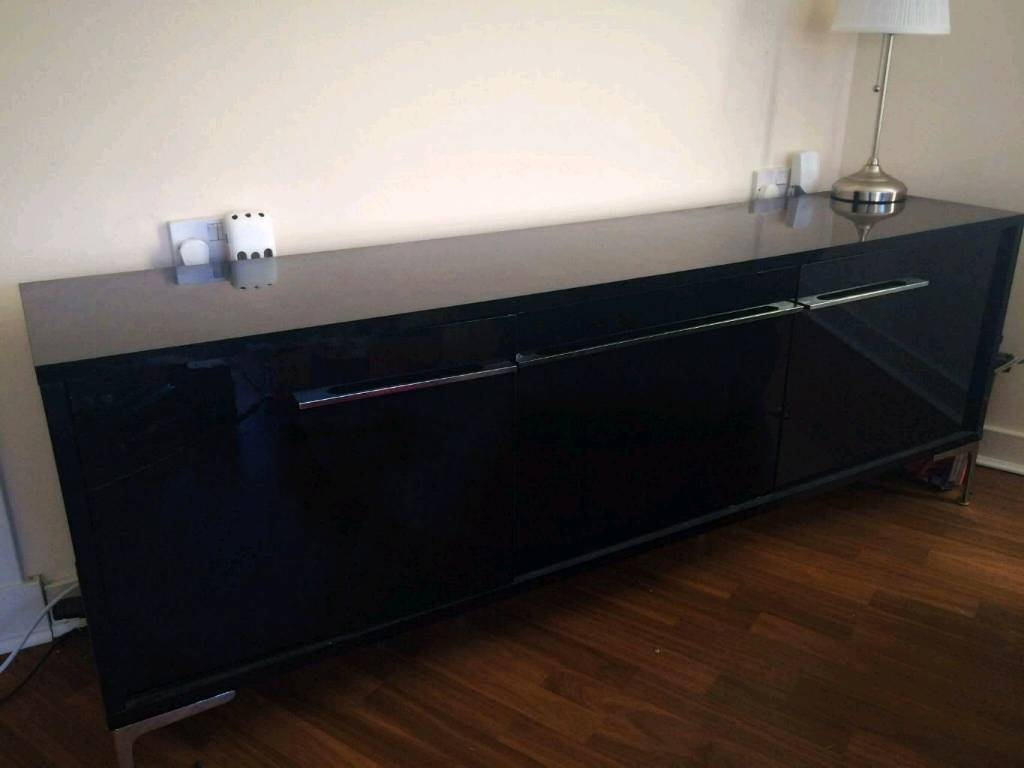 High Gloss Black Sideboard | In Glasgow | Gumtree Throughout High Gloss Black Sideboard (View 19 of 20)