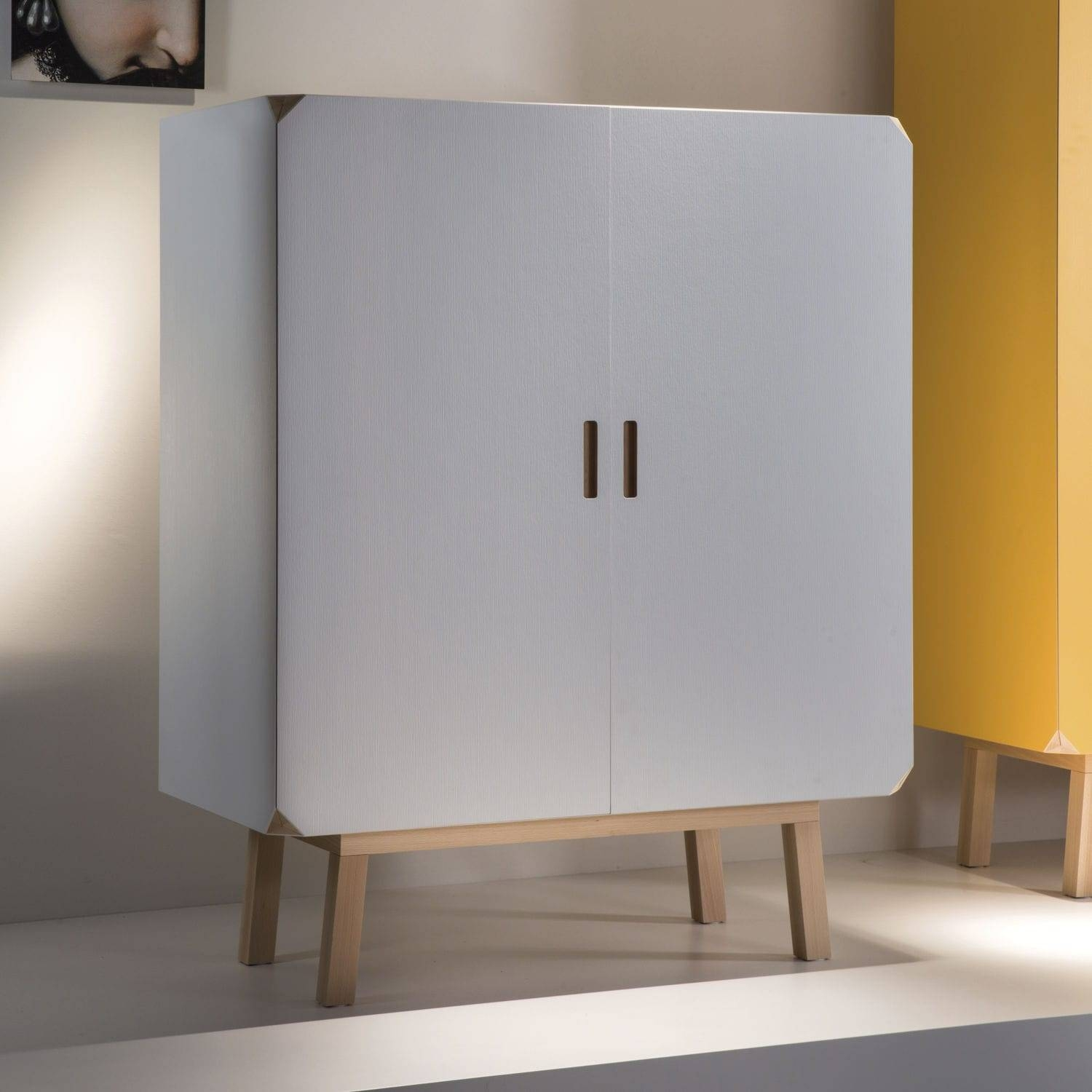 High Sideboard / Contemporary / Beech / Yellow – Cartalegno In High Sideboard (View 8 of 20)