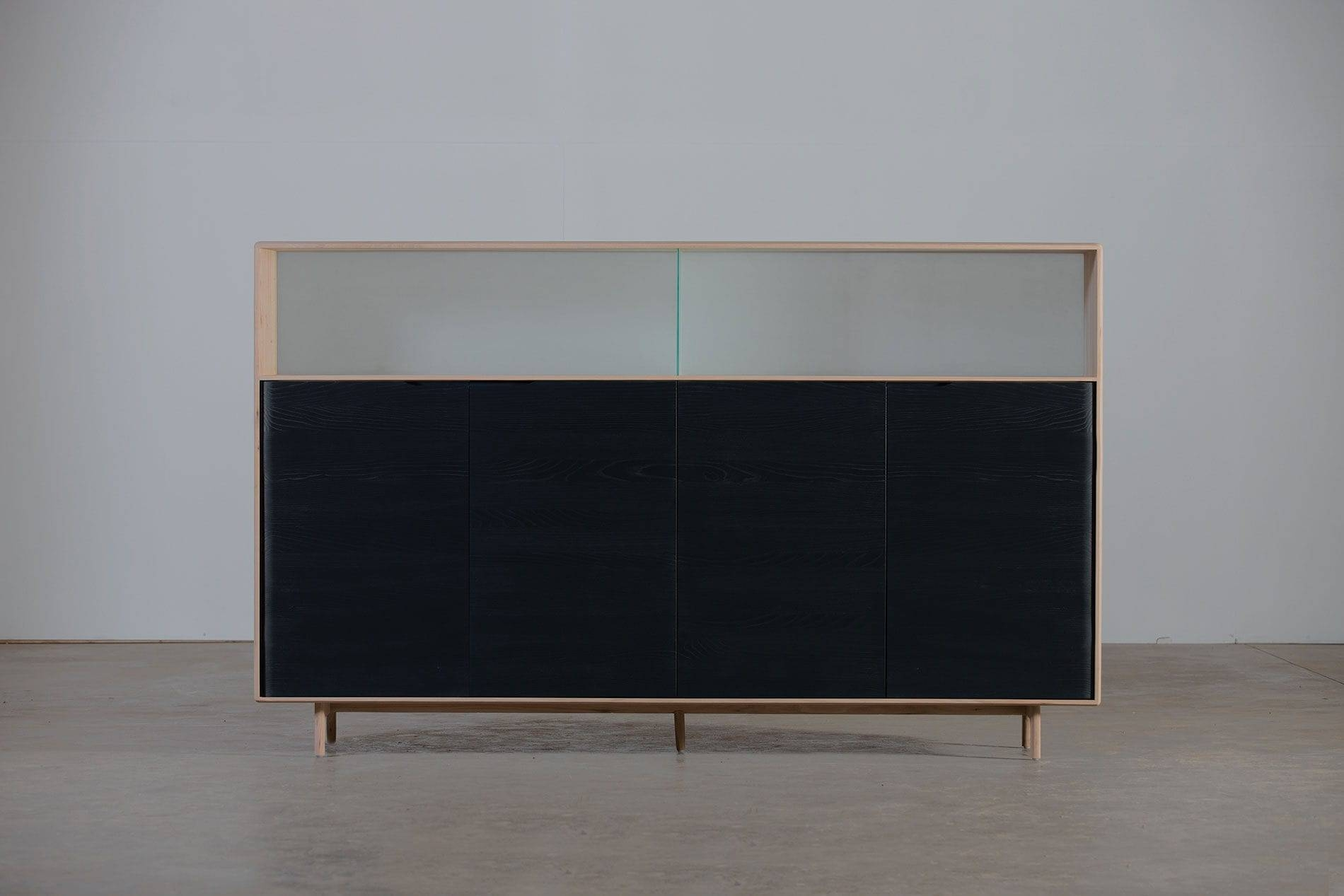 High Sideboard / Contemporary / Oak / Walnut – Invitomichael Throughout High Sideboard (View 9 of 20)