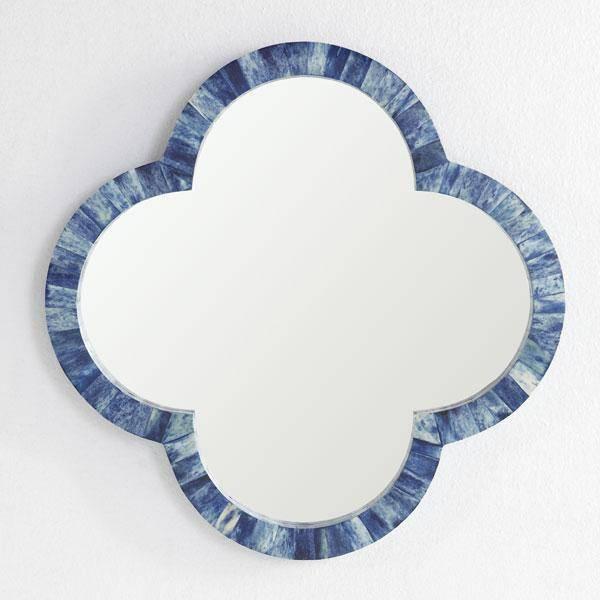 High Street Market – Bone Tile Round Mirror Within Blue Round Mirrors (#17 of 30)