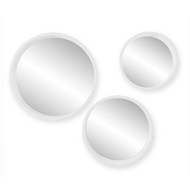 Holly & Martin Daws White Wall Mirror Set Of 3 – Ws4528 | Ebay In White Oval Wall Mirrors (#6 of 30)