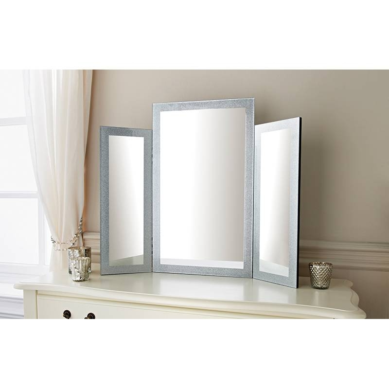 Hollywood Dressing Table Mirror | Decorative Mirrors – B&m With Regard To Dressing Table Mirrors (View 14 of 20)