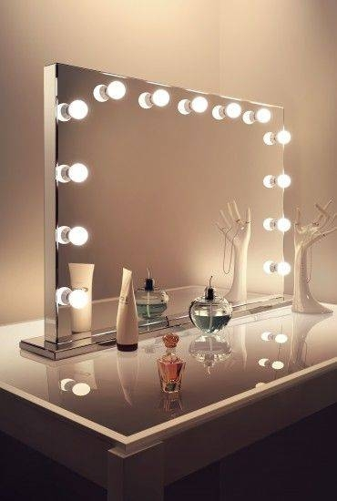 Hollywood Mirrors, Hollywood Mirror With Lights, Makeup & Vanity Regarding Large Illuminated Mirrors (#13 of 30)