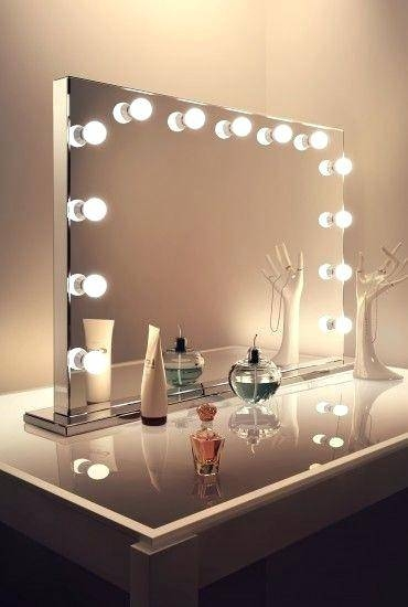 Hollywood Mirrors Mirror With Lights Makeup Vanity Illuminated For Illuminated Dressing Table Mirrors (#12 of 20)