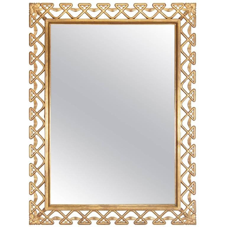 Hollywood Regency Italian Gilt Frame Mirror, 1950S For Sale At 1Stdibs Throughout Gilt Framed Mirrors (View 5 of 20)