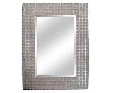 Home Decor Silver Rectangular Bathroom Mirror Thick Beveled Glass With Silver Rectangular Bathroom Mirrors (#11 of 20)