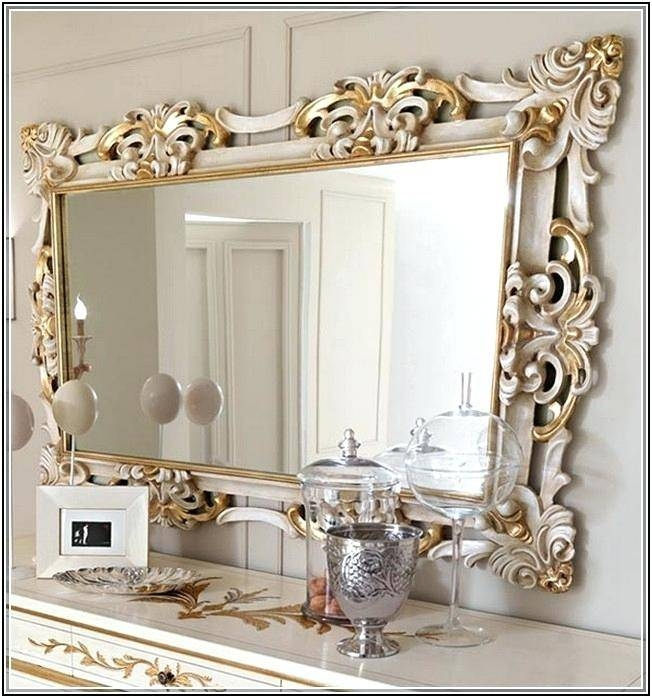 Home Decoration Contemporary Large Decorative Wall Mirrors For With Venetian Heart Mirrors (#19 of 20)