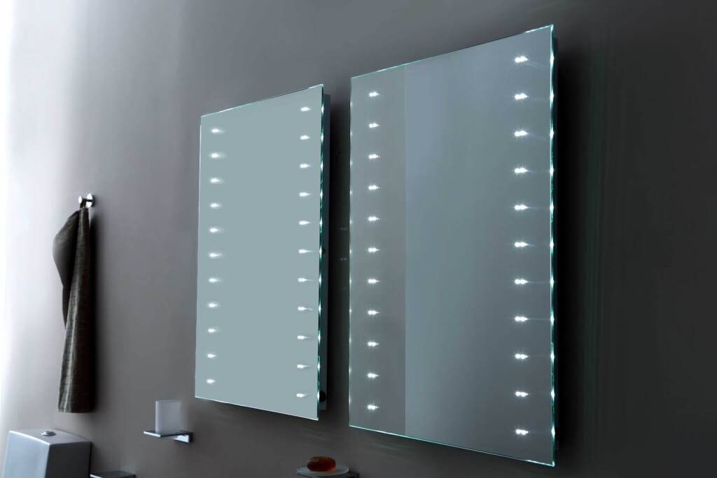 Home Decoration: Spectacular Double Frameless Mirror And Double Within Frameless Large Mirrors (#15 of 20)