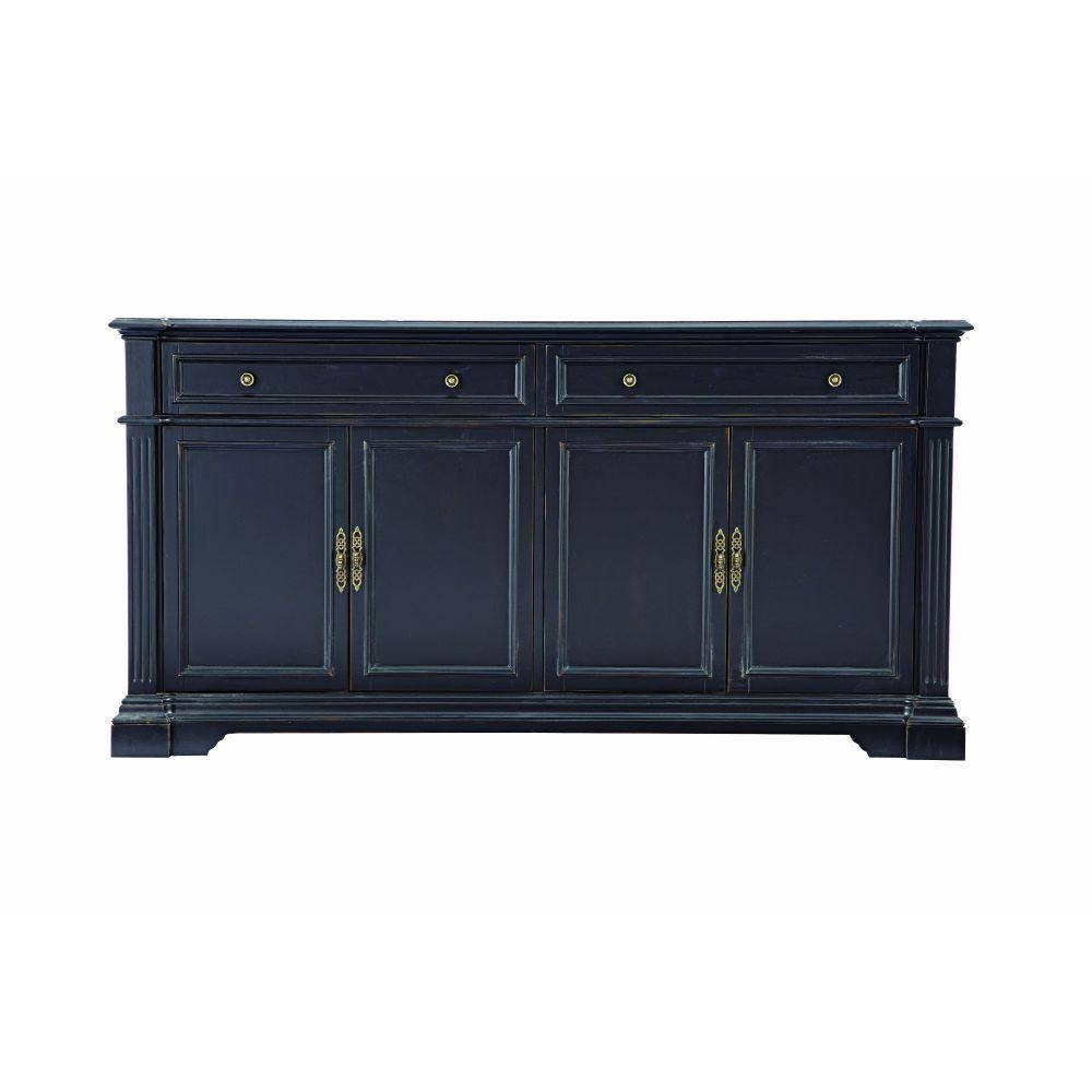 Home Decorators Collection Bufford Antique Black Buffet 9485300210 Inside Black Sideboard (View 12 of 20)