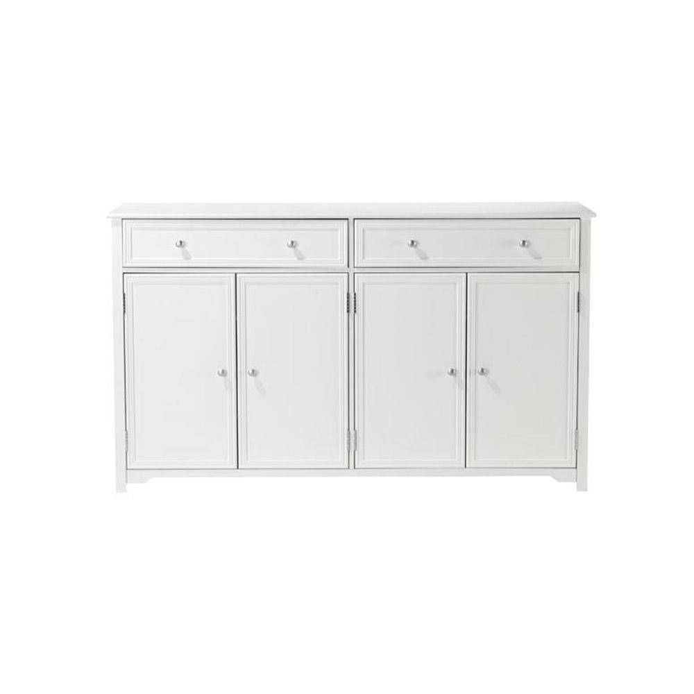 Home Decorators Collection Oxford White Buffet 0829500410 – The With Black Wood Sideboard (#9 of 20)