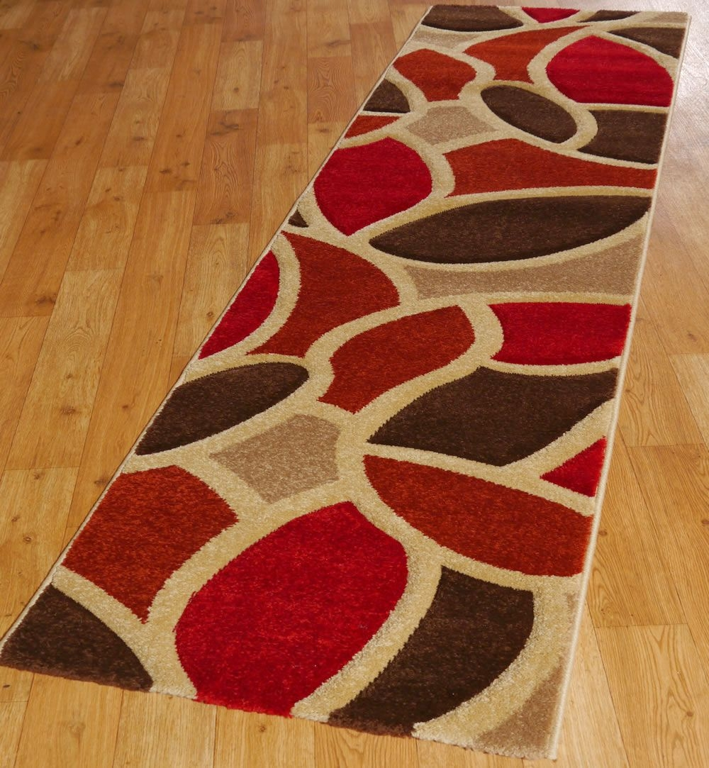 Home Design Nice Brown Striped Runner Rug Entryway Hallway Decor Within Striped Runners For Hallways (#13 of 20)