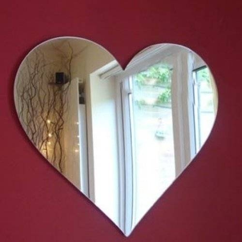 Home Home Accessories Mirrors Rose Heart Mirror Uttermost Um11912b Within Heart Shaped Mirrors For Walls (View 13 of 30)