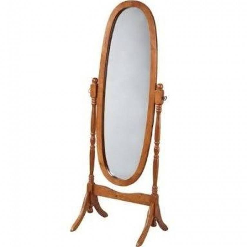 Homeware: Simple Floor Length Mirrors For Exciting Home For Free Standing Oval Mirrors (#16 of 20)