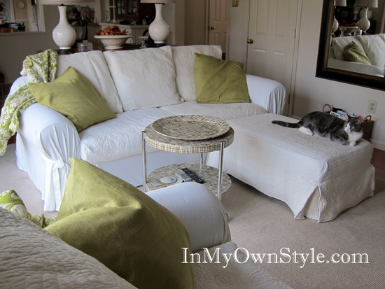 Inspiration about How To Cover A Chair Or Sofa With A Loose Fit Slipcover In My Inside Slipcovers For Sofas And Chairs (#3 of 15)