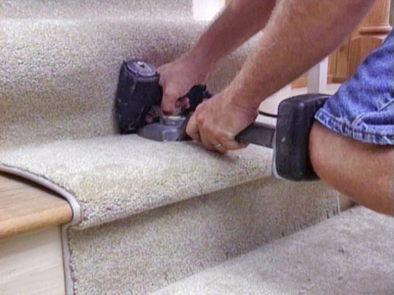 How To Install A Carpet Runner On Stairs Hgtv With Regard To Stick On Carpet For Stairs (View 20 of 20)