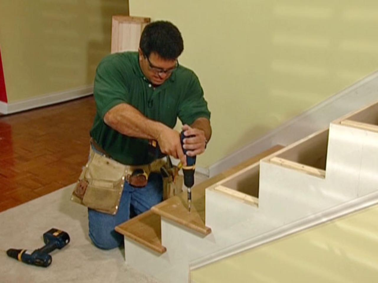 How To Install New Stair Treads And Railings How Tos Diy For Stair Tread Carpet Bars (#14 of 20)