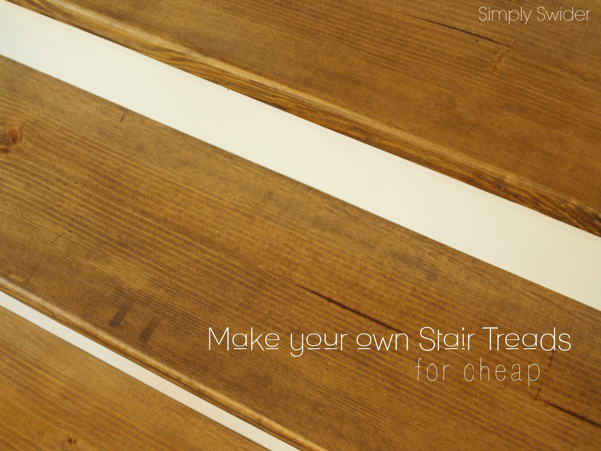 How To Make Wood Stairs Treads For Cheap Simply Swider Intended For Stair Treads For Wooden Stairs (#10 of 20)