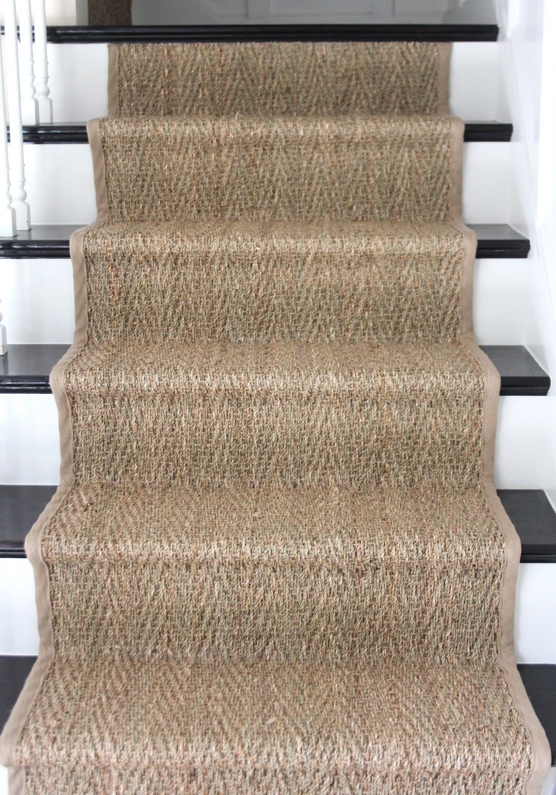 How To Seagrass Stair Runner Shine Your Light For Sisal Stair Tread Rugs (#11 of 20)