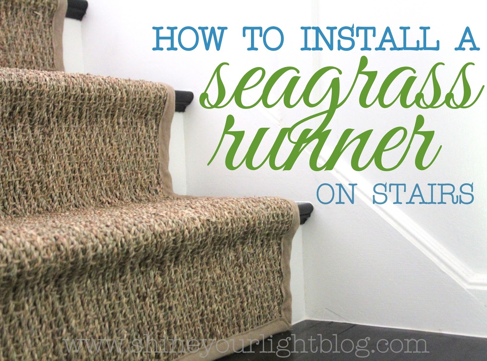 How To Seagrass Stair Runner Shine Your Light Intended For Rustic Stair Tread Rugs (#15 of 20)