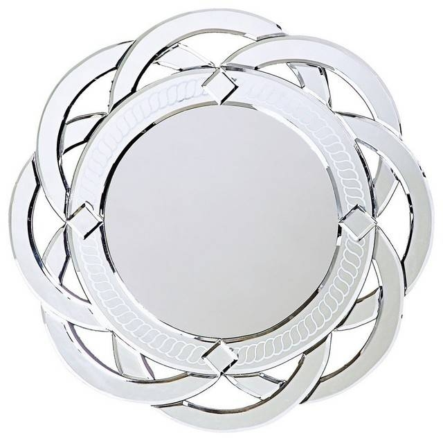 Howard Elliott 11008 Galaxy Contemporary Venetian Style Round In Contemporary Round Mirrors (View 20 of 20)