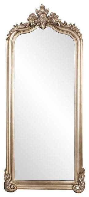 Howard Elliott Tudor Silver Floor Mirror – Victorian – Floor In Victorian Floor Mirrors (#16 of 30)