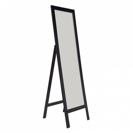 Howards Storage World | Black Bevelled Edge Freestanding Mirror With Regard To Black Free Standing Mirrors (#18 of 30)