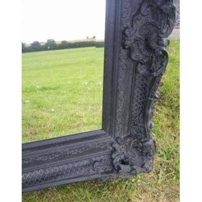 Huge 6Ft X 4Ft Ornate Black Rococo Mirror – Ayers & Graces Online Throughout Black Rococo Mirrors (#20 of 30)