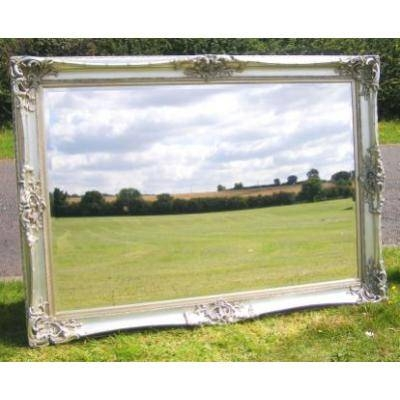Huge 6Ft X 5Ft Silver Gilt Monaco Mirror – Ayers & Graces Online Pertaining To Large Silver Gilt Mirrors (#17 of 30)