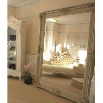 Huge 8Ft X 6Ft Ivory Monaco Antique Mirror – Ayers & Graces Online Regarding Huge Antique Mirrors (#10 of 15)