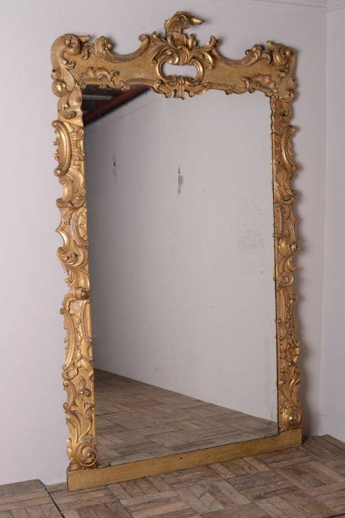 Huge English Rococo Style Antique Gilt Mirror | 289333 Intended For Rococo Style Mirrors (#7 of 30)
