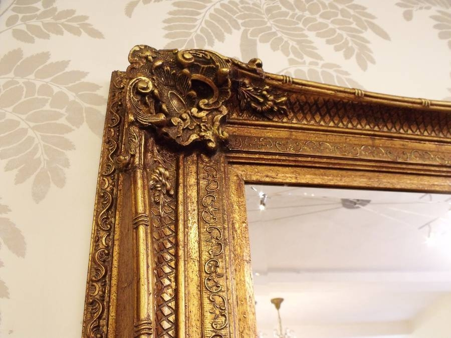 Huge Gold Antique Mirrorhand Crafted Mirrors In Gold Antique Mirrors (#14 of 20)