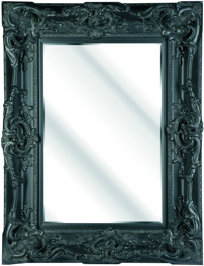Huge Oversized Ivory Mirrorhand Crafted Mirrors Pertaining To Large Black Ornate Mirrors (View 22 of 30)