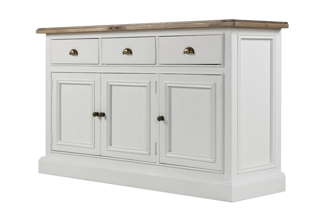 Hutch® – Chippenham White Painted Large Sideboard 3 Door 3 Drawer Intended For Large White Sideboard (#7 of 20)